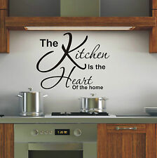 Kitchen is heart of the home wall art sticker quote - 4 sizes - loads of colours