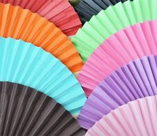25 Colored Paper Hand Fan Wedding Party Favor