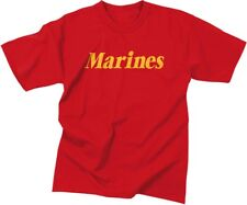 Red Official USMC Marines T-Shirt w/ Gold Letters