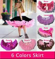 Baby Kids Girls Dancewear Cute Chiffon Tutu Full Pettiskirt Princess Skirt 3-6Y