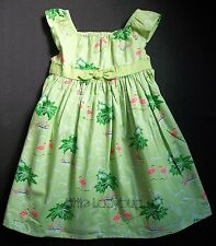 NWT Gymboree PALM BEACH PARADISE Green Palm Tree Pink Flamingo Dress R1263