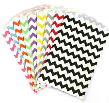 Chevron Medium Food Safe Flat Paper Craft Bags by Whisker Graphics - pk of 10