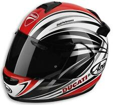 DUCATI STRIPES ARAI VECTOR 2 HELMET NIB ALL SIZES NEW FOR  2012 W/DK SHIELD