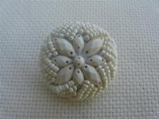 2 x LARGE BEADED BUTTONS SIZE 50 (38MM) BLACK OR WHITE FREE P&P UK
