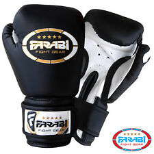 6oz Kids Boxing Gloves Junior Mitts mma Synthetic Leather Sparring Gloves Black