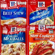 McCormick Seasoning Spices & Sauce Mix ~ 3 Packets