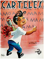"164.Cuban Quality Design poster""Kid writes I LOVE MY MOM on the Wall"""