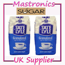 TATE & LYLE GRANULATED CANE WHITE SUGAR 1 2 3 4 6 10 OR 15KG CEREAL COOKING