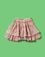 NEW Girls Pink Floral Ruffled Skirt*Kids Pink Skirt $60 Ruffle Skirt  5 6 7 8