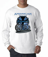 American Original Choppers Iron Cross Biker Motorcycle Long Sleeve T-Shirt S-2XL