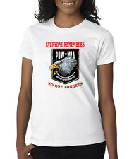 POW MIA American Eagle Logo US Military Ladies Tee Shirt