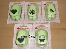 "Woodware Large Green Punch 2.5cm 1"" Various Designs"