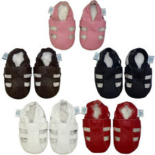 NEW SOFT LEATHER BABY SHOES. WHITE,  NAVY,  RED,  BROWN, PINK SANDALS ALL SIZES