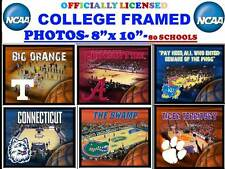 "COLLEGE BASKETBALL PHOTO ART-NCAA BASKETBALL PHOTO MATTED & FRAMED-8""X10""-WOW"