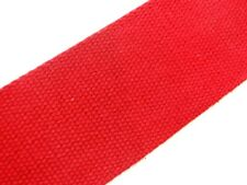 Blood Red (72) Cotton Webbing Belting Fabric Strap Bag Making Thick Quality