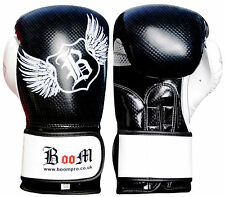 BOOM Pro Leather Boxing Gloves,MMA,Punch Bag,Muay Thai,Sparring,Kick box Gloves