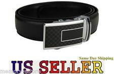 New Adjustable Men Black Dress Leather Belts with Auto Lock Buckle, ID: d.g a.94