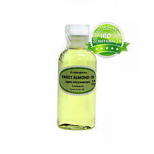 PURE ORGANIC SWEET ALMOND OIL COLD PRESSED 2 OZ 4 OZ -UP TO 128 FL.OZ/1 GALLON