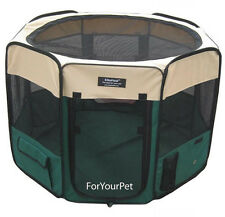 EliteField 2-Door Soft Playpen with 4 GROUND ANCHORS Crate Cage Kennel 3 Sizes
