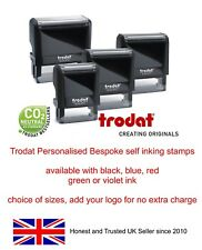 PERSONALISED RUBBER STAMP SELF INKING, BUSINESS,NAME,ADDRESS,GARAGE,SCHOOL etc