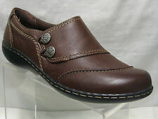 *SALE* Ladies Clarks Embrace Charm Brown Leather Slip On D Fitting