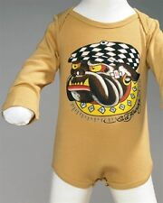 Ed Hardy Long Sleeve Bulldog Graphic Baby Onesie nwt