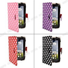 "Polka Dot New 7 inch Folio Leather Case Cover for 7"" Tablet PC MID Google Nexus"