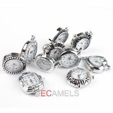 Hot sale 5x Antique Silver Tone Quartz Watch Face For Beading Pick Style
