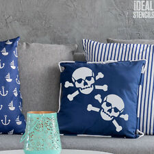 Skull and crossbones stencil reusable stencils painting arts and crafts stencil