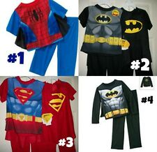 * NWT NEW BOYS 2PC SUPERMAN BATMAN SPIDERMAN PAJAMAS SET 3T 4T 5T