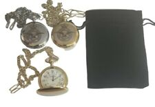 ROYAL AIR FORCE POCKET WATCH ENGRAVED WITH RAF CREST, COMES WITH VELVET POUCH