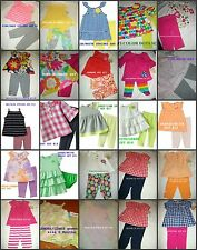 *NEW GIRLS 2PC CARTERS STRIPES BUTTERFLYS SUMMER PANTS OUTFIT SET