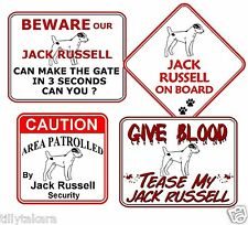 JACK RUSSELL NOVELTY CAR & WINDOW SIGNS - DOG