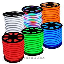 150ft Neon Rope Light LED Sign Decorative In/Outdoor Cool White/Red/Blue/Green