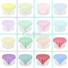"Organza Table Overlay Cover Cloth 72""X72"" Wedding Party Supply Sheer Colours New"