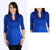Cute 3/4 Sleeve Blue Maternity Top S-M-L-XL