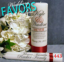 Wedding Unity Candle With Tapers Last Name Design