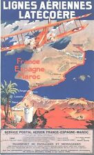 Vintage France to Morocco Air Travel Poster A3 / A2  Reprint