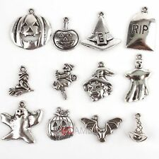 Mixed Halloween Tibet Silver Tone Charm Alloy Pendant Bead Fit Necklace