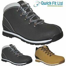 NEW MENS BLACK WORK BOOTS WINTER WALKING HIKING TRAINERS WORK SHOES SIZES 6-12UK
