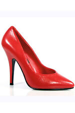 Sexy Red Leather 5 Inch Classic Pump. Sexy Red Stiletto's Heels. Sexy High Heels