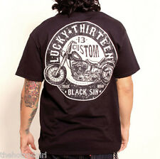 Lucky 13 Black Sin Men's T Shirt L - Large