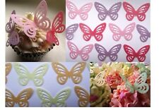 Butterflies Edible Wafer  - Butterflys Cake  Decorations - All Colours