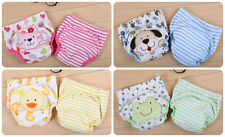 2pcs toddler kids baby  girls boys training pants potty cartoon underwear
