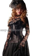 Goth Black Feather Queen CORSET SZ S-2XL Bow Tie   Magnificent SGND- A2712_black