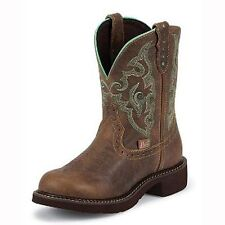 L9606 Justin  Women's Tan Jaguar Boots NEW with BOX!