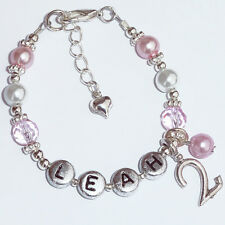 Baby Personalised 1st 2nd 3rd 4th 5th 6th 7th 8th 9th Birthday Charm Bracelet
