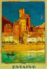Estaing scenery travel Decorative Poster.Fine Graphic Art Design. 3005