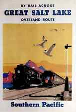 Great Salt Lake-Southern Pacific, c.1927 -Trains  Art on Canvas