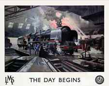The Day Begins, London Midland & Scottish Railway c.1946 - Trains Art on Canvas